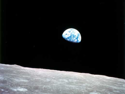 Earthrise, from Apollo 8